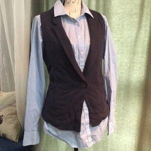 Ann Taylor shirt with American Eagle vest set